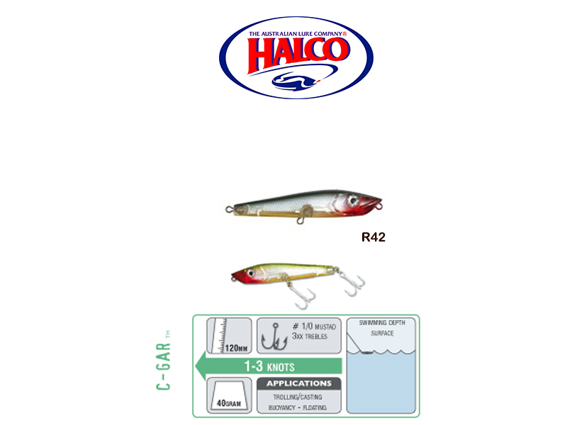 Halco C-GAR (Size: 120mm, Weight: 40g, Color: R42)