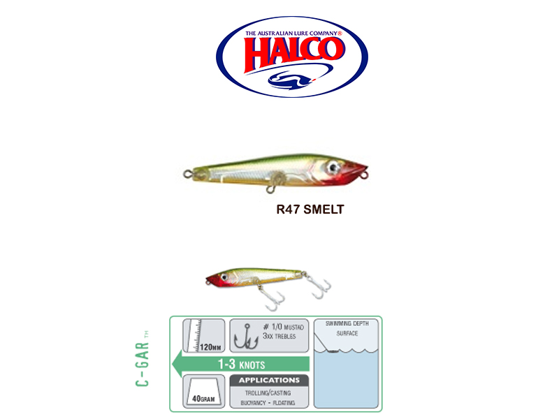Halco C-GAR (Size: 120mm, Weight: 40g, Color: R47)