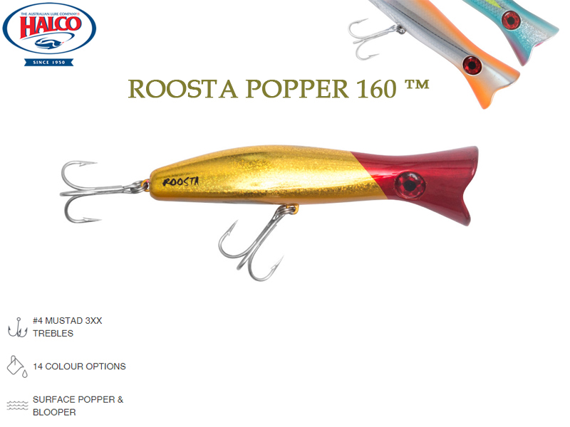Halco Roosta Popper 160 (Length: 160mm, Weight: 75gr, Color: H78)