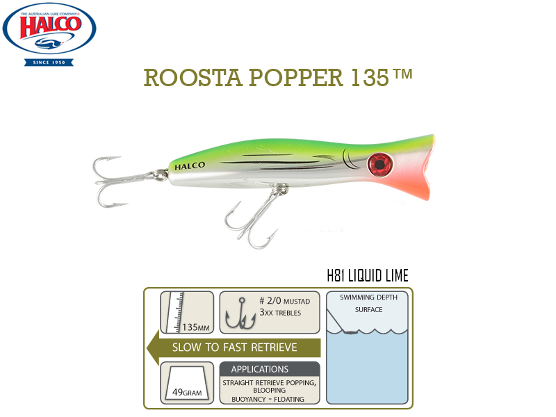 Halco Roosta Popper 135 (135mm, 49gr, Color: H81)