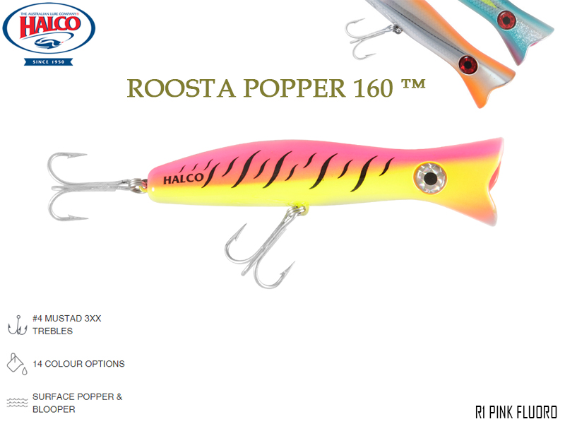 Halco Roosta Popper 160 (Length: 160mm, Weight: 75gr, Color: R1)
