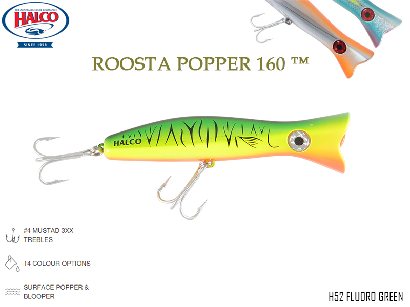 Halco Roosta Popper 160 (Length: 160mm, Weight: 75gr, Color: H52)