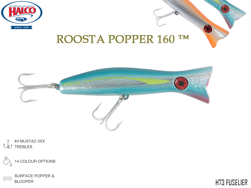 Halco Roosta Popper 160 (Length: 160mm, Weight: 75gr, Color: H73)