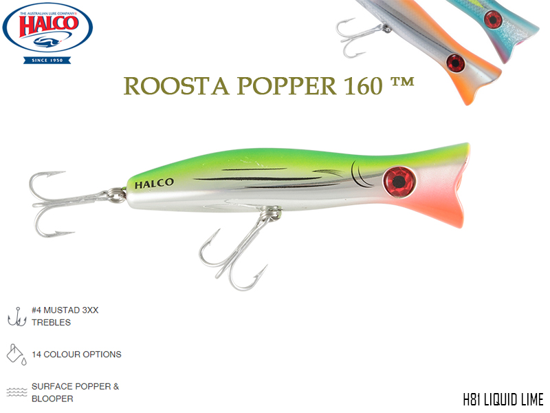Halco Roosta Popper 160 (Length: 160mm, Weight: 75gr, Color: H81)