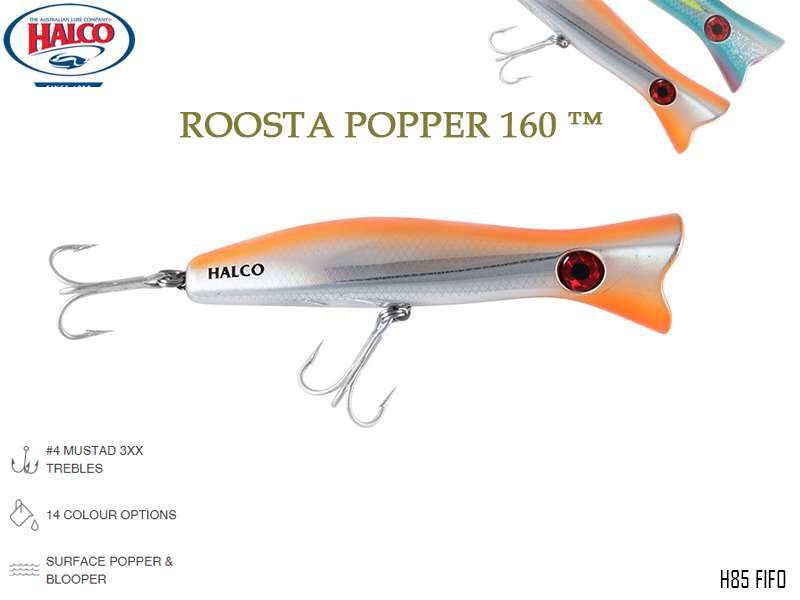 Halco Roosta Popper 160 (Length: 160mm, Weight: 75gr, Color: H85)