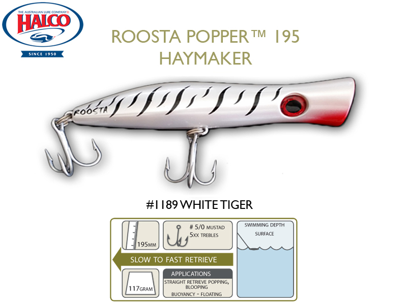 Halco Roosta Popper 195 (195mm, 110gr, Color: 1189)