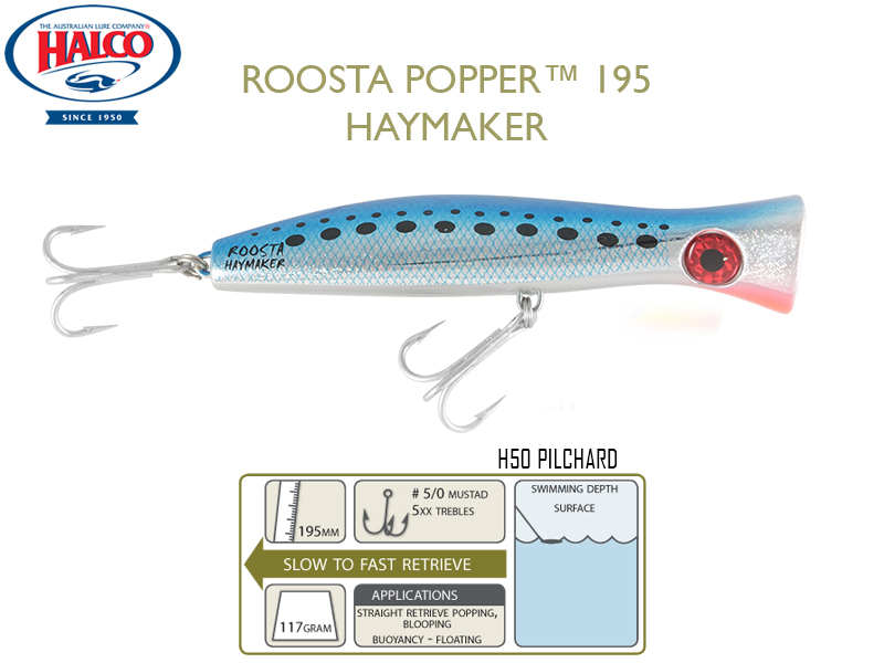 Halco Roosta Popper 195 (195mm, 110gr, Color: H50)