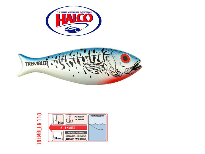 Halco Trembler 110 (114mm, 30gr, Color: H57)