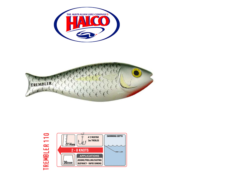 Halco Trembler 110 (114mm, 30gr, Color: R25)