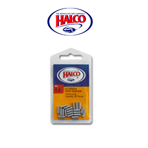 Halco Aluminium Crimp Sleeves (#1.0, 10mm, 20pcs, weight: 100LB)