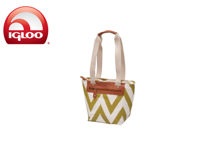 Igloo Everyday Tote 14 - Ikat Zag (Pear, 14 Cans/ 8 Liters)