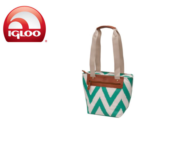 Igloo Everyday Tote 14 - Ikat Zag (Turquoise, 14 Cans/ 8 Liters)