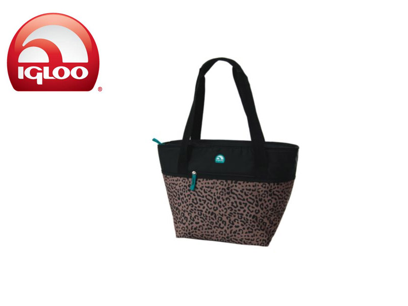 Igloo Cooler Shopper Tote 30 - Animal Print (Brown, 30 Cans/ 19 Liters)