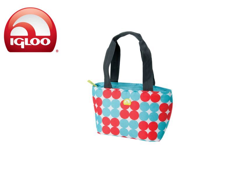 Igloo CoolerMini Tote 8 - Polka Dots (Aqua, 8 Cans / 7 Liters)