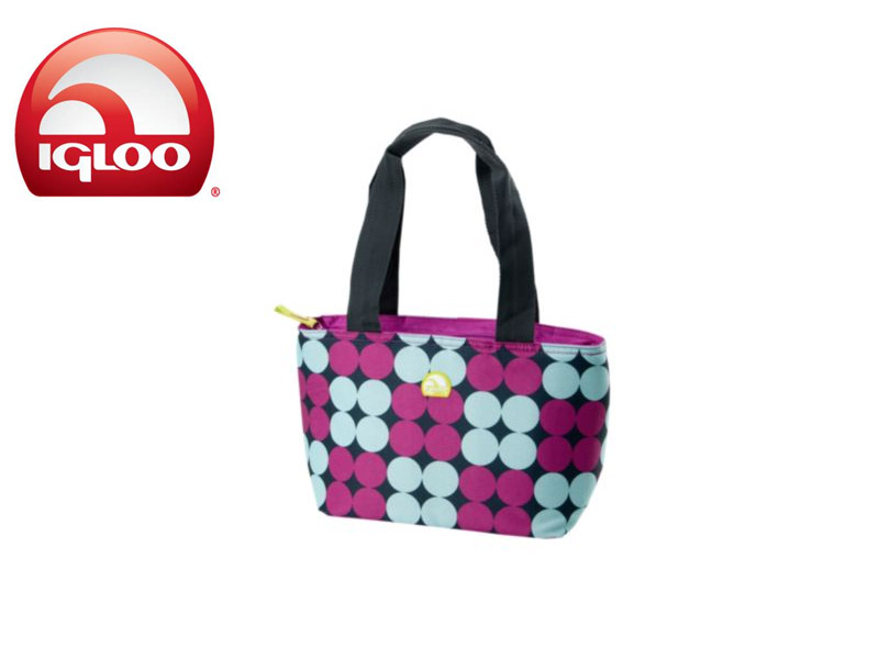 Igloo CoolerMini Tote 8 - Polka Dots (Pink, 8 Cans / 7 Liters)