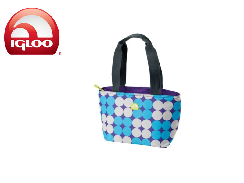Igloo CoolerMini Tote 8 - Polka Dots (Purple, 8 Cans / 7 Liters)