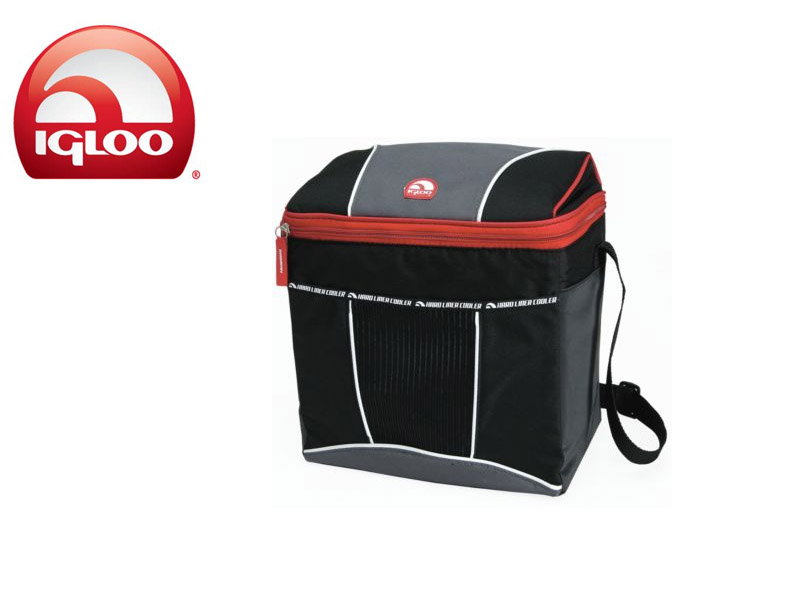 Igloo Cooler Vertical HLC 12 (Graphite/Red, 12 Cans/8 Liters)