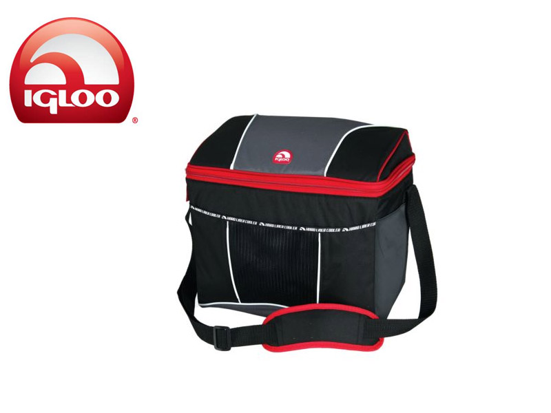 Igloo Cooler Vertical HLC 24 (Graphite/Red, 24 Cans/19 Liters)