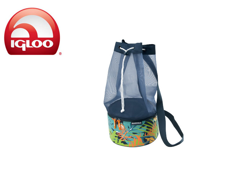 Igloo Cooler MaxCold™ Drawstring Beach 8 Vintage Hawaiian (Blue, 8 Cans/5Liters) - clone