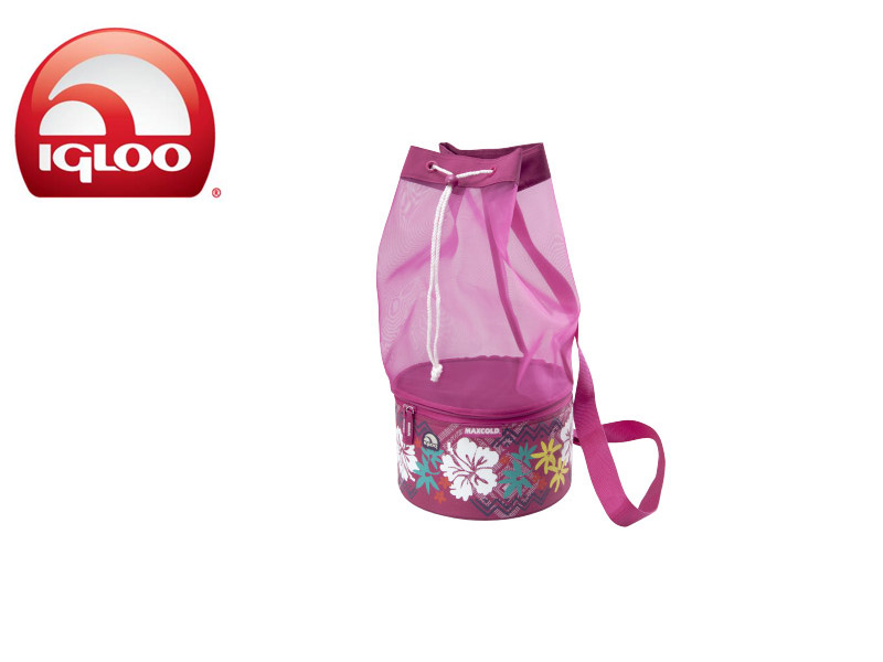 Igloo Cooler MaxCold™ Drawstring Beach 8 Vintage Hawaiian (Pink, 8 Cans/5Liters)