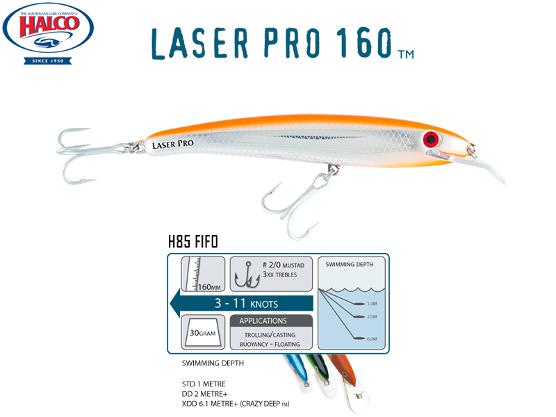 Halco Laser Pro 160 DD (160mm, 30gr, Color: H85)