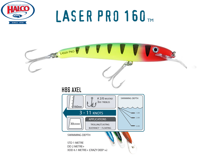 Halco Laser Pro 160 DD (160mm, 30gr, Color: H86)