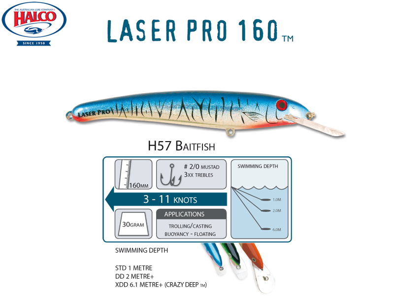 Halco Laser Pro 160 XDD (160mm, 30gr, Color: H57)