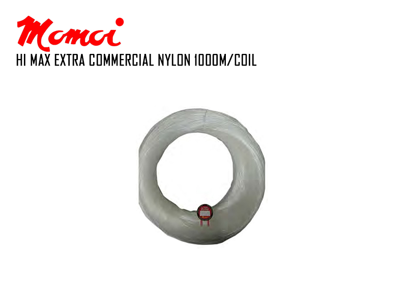 Momoi Hi-Max Extra Commercial Nylon (Size:0.50mm, Strength: 17.43kg, Length: 1000mt)