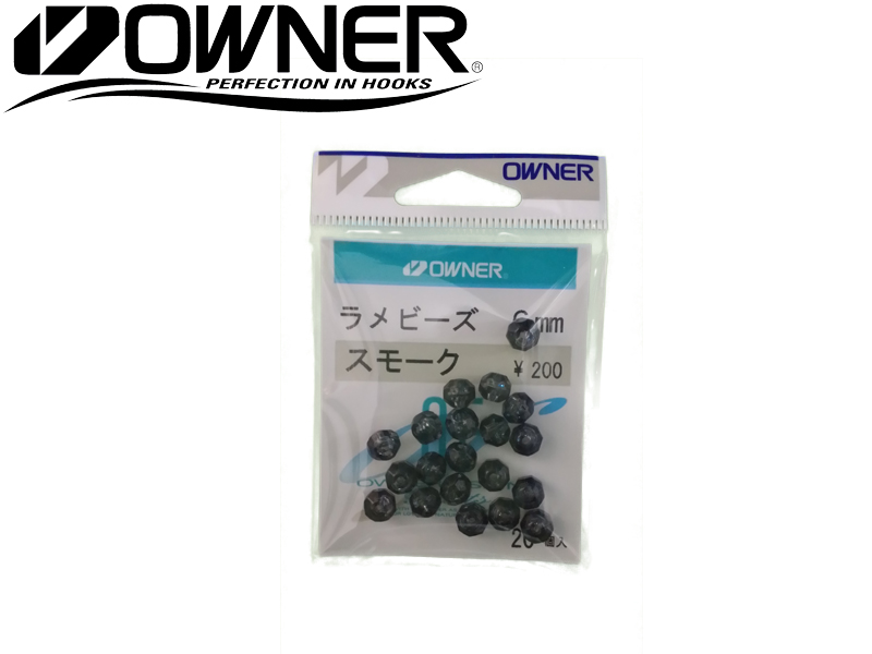 Owner 81090 Rame Beads 6mm (#5, Color: Smoke, Qty: 20pcs)