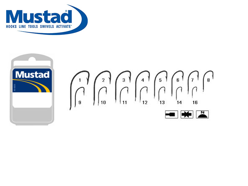 Mustad Superior Crystal (Size: 8, Pack: 50)