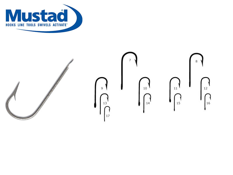 Mustad 2315S Round Bend Sea Hooks (Size: 12, Pack: 50)