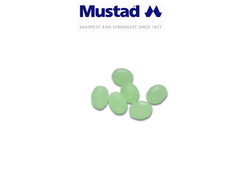 Mustad 9966 Glowing Oval Beads (Size: 2X3mm, Pack: 100)