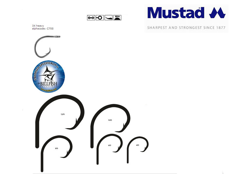 Mustad Demon® Perfect Offset Circle Hooks (Size: 6/0, Pack: 5)