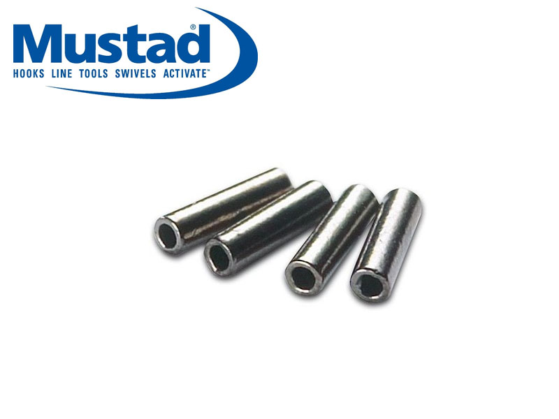 Mustad Black Brass Single Sleeves (&#8960: 0.6mm, Length: 5mm 50pcs)