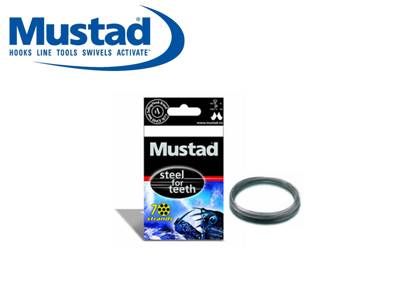 Mustad Steel for Teeth (Size: 400, BS lbs: 800, Length: 10m, 1pcs)