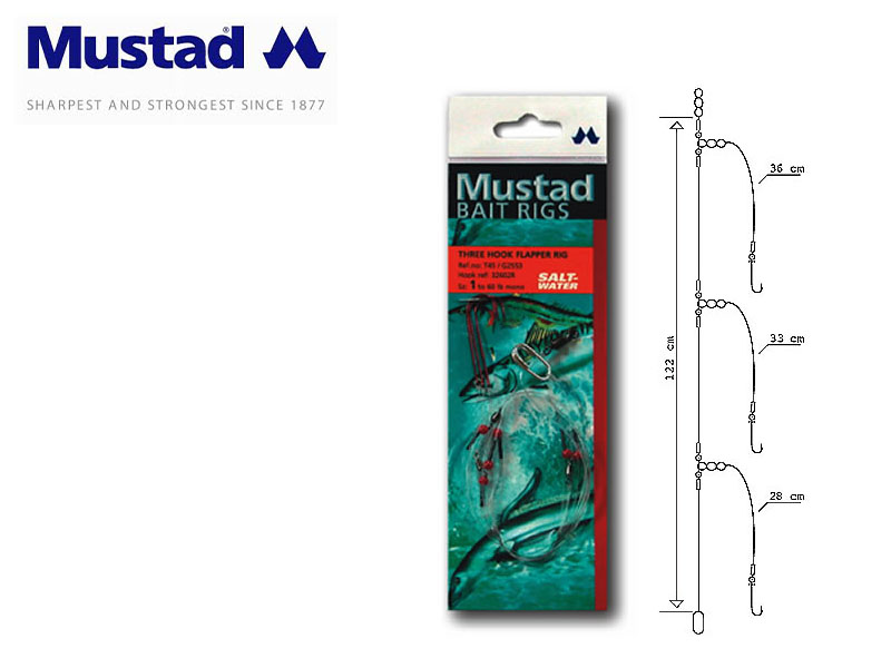 Mustad Three Hook Flapper Rig (Hook: 1)