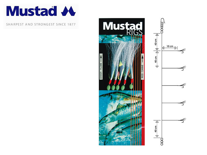 Mustad Sabiki Rig With Lureflash (Hook: 1)