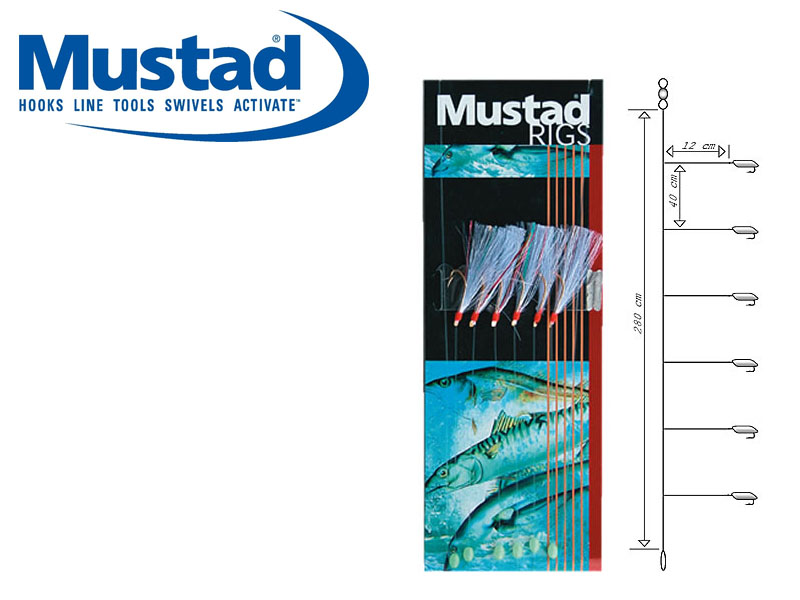 Mustad Flasher Rainbow Rig (Hook: 4)