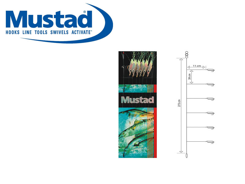 Mustad Piscator X-White Rig (Hook: 6)