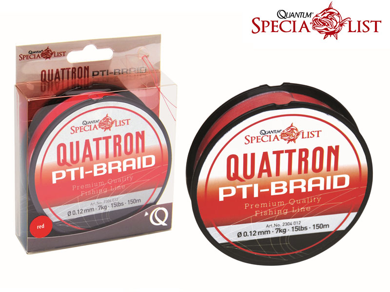 Quantum Quattron PTI Salsa Braid (Ø:0.12mm, Length: 150m, Color: Red)