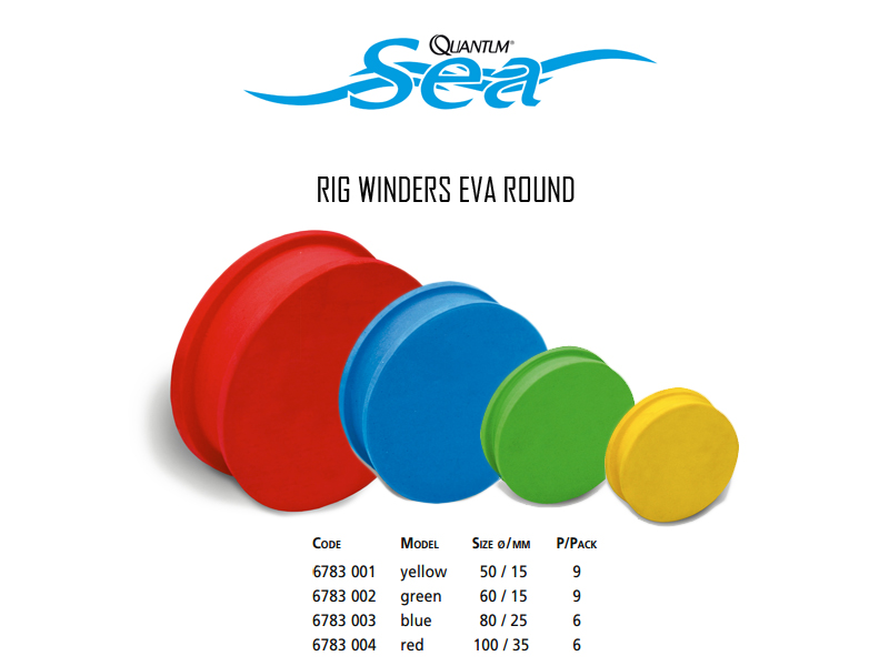 Quantum Rig Winder Eva Round (Colour: Red, Size: Ø100/35mm, Pack: 6pcs)