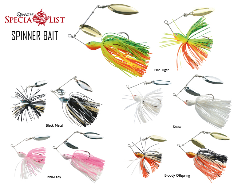 Quantum Spinnerbaits (Size: 10cm, Weight: 10gr, Colour: Firetiger)