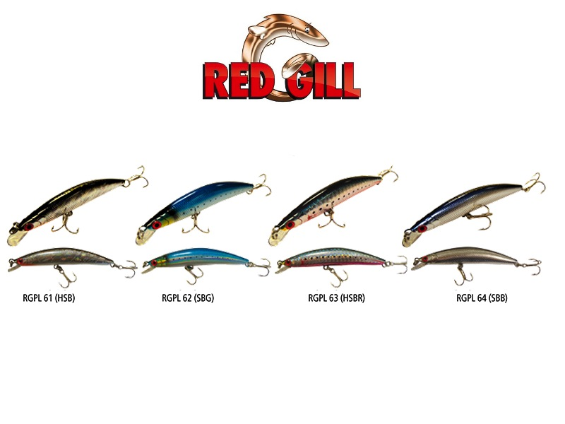 Red Gill Swinging Minnow (Length: 90mm, Weight: 8g, Model: RGPL61-HSBR, Pack: 1pcs)