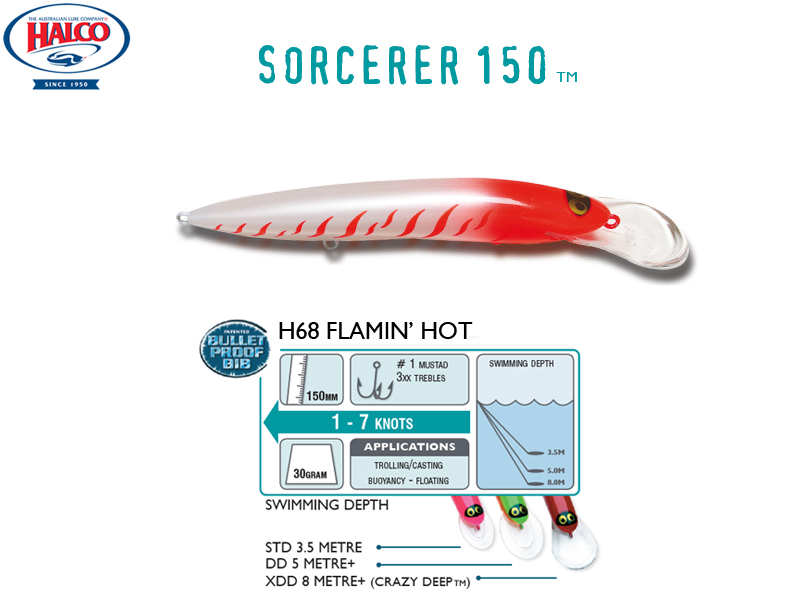 Halco Sorcerer 150DD (150mm, 30g, Color: #H68)