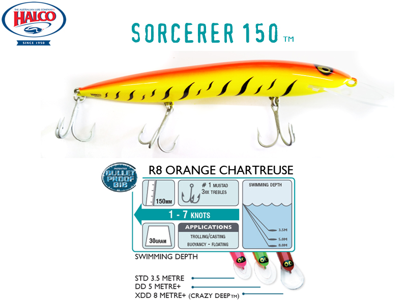 Halco Sorcerer 150DD (150mm, 30g, Color: #R8)