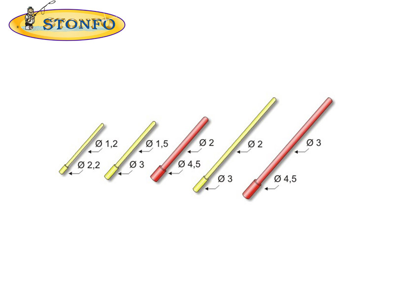 Stonfo float double antennae (Sizes: ⌀ 4.5, Length: 66mm, 20pcs)