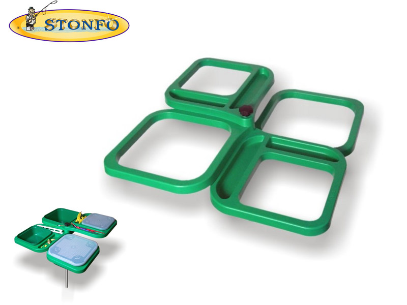 Stonfo Folding Bait Tray Four Divisions
