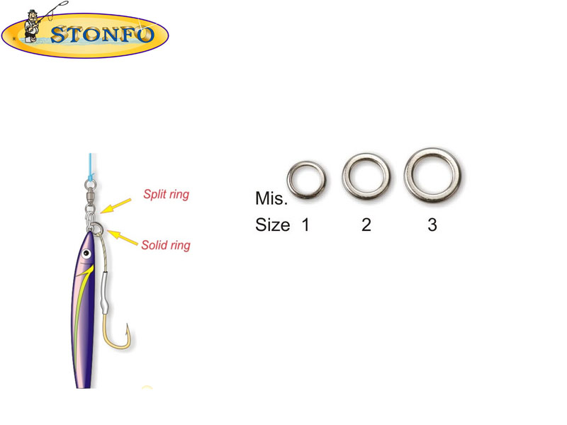 Stonfo Solid Rings (Size 1: &#8960 int mm 5. Strength Kg 30, 5pcs)