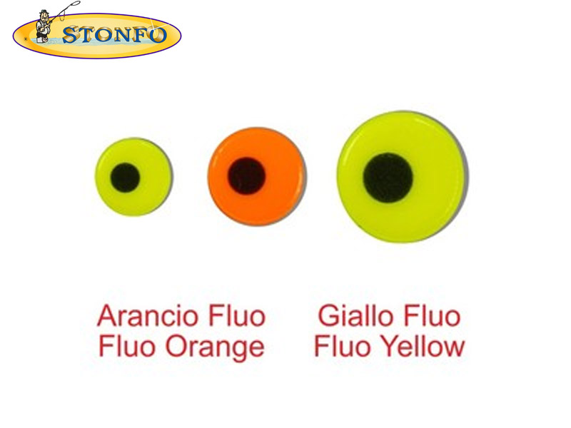 Stonfo Fluo Lure Eyes (Diameter: 5mm, Pack: 24)