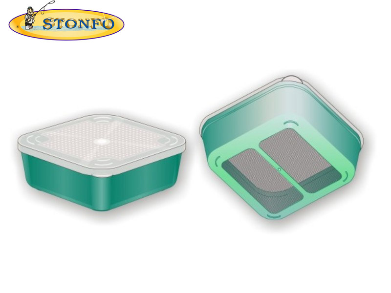 Stonfo Square Bait Boxes with Mesh (Size: 1.2lt)